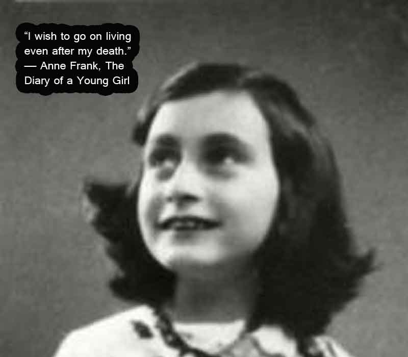 anne frank image with quotes
