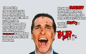 American Psycho Quotes Pleasing American Psycho Quotes  365Greetings