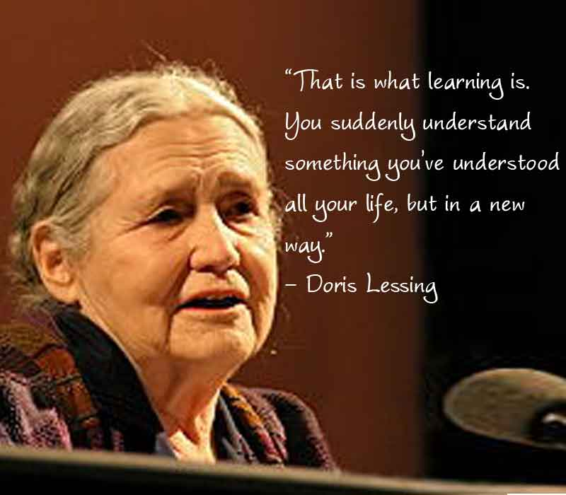 doris lessing with quotes, doris lessing