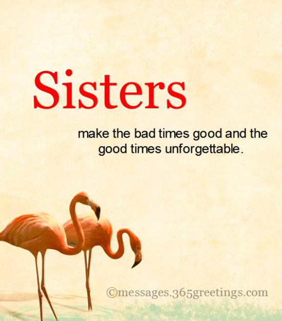 Sister Quote | Top 60 Sisters Quotes And Sayings With Pictures 365greetings Com