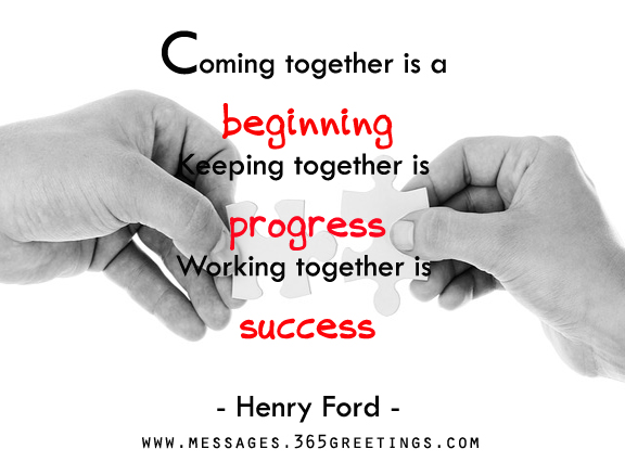 Image of: Agreeable Teamwork Messages Wishes And Quotes 365greetingscom Teamwork Quotes And Sayings 365greetingscom