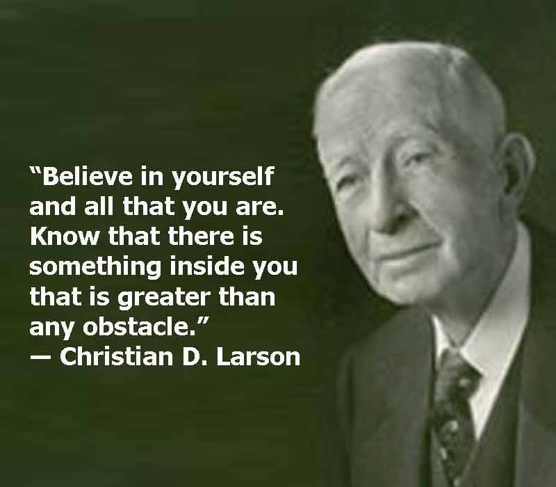 Christian D. Larson image with quotes, Christian D. Larson quotes