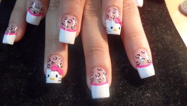 Simple nail art designs for beginners 365greetings hello kitty nail art prinsesfo Images
