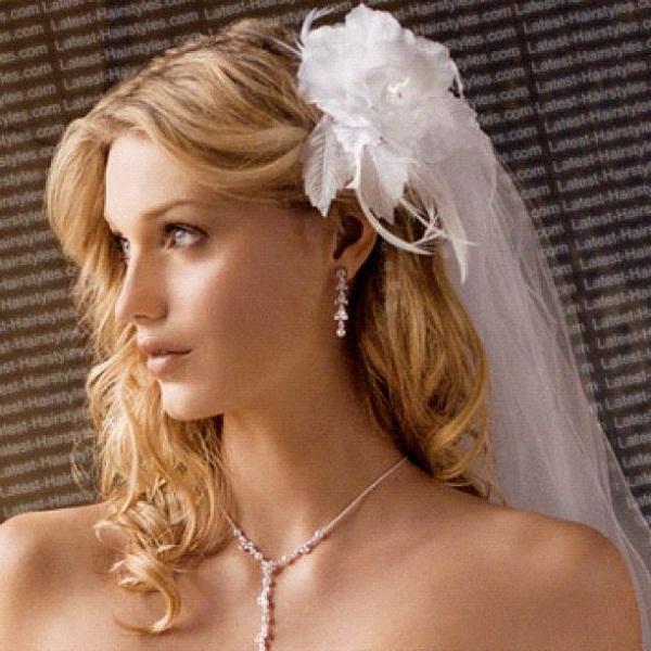 Wedding Hairstyle Updo Veil: Romantic Bridal Hairstyles