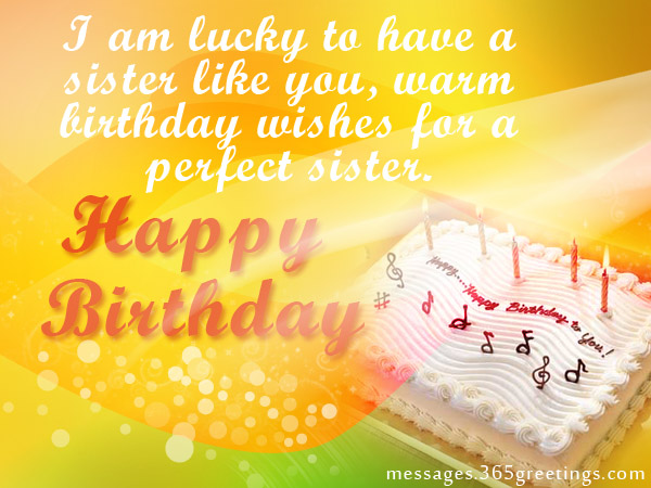 Birthday wishes for sister that warm the heart 365greetings happy birthday messages for sister m4hsunfo