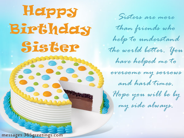 Birthday wishes For Sister that warm the heart Messages – Birthday Greetings for Sister Message