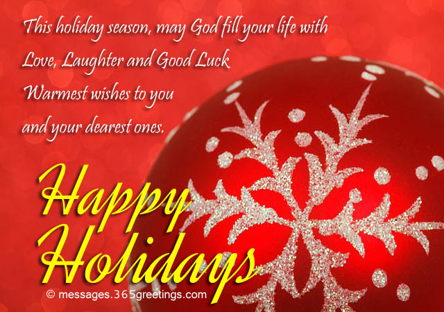 Happy Holiday Wishes, Greetings and Messages ...