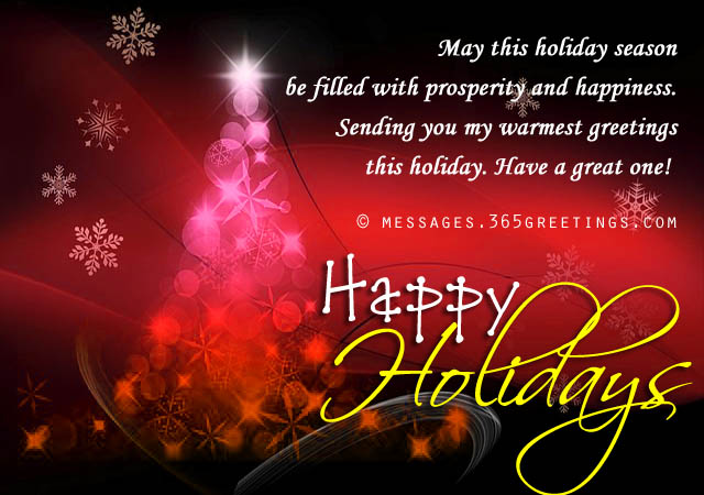 Happy Holiday Wishes, Greetings And Messages - 365Greetings.Com