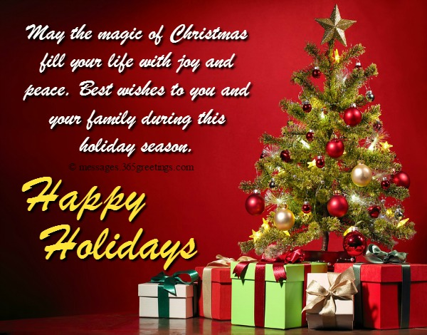 Happy holiday wishes greetings and messages 365greetings so if someone in your friend circle relation family or co worker is going on a holiday just send these beautiful holiday wishes quotes and make their m4hsunfo