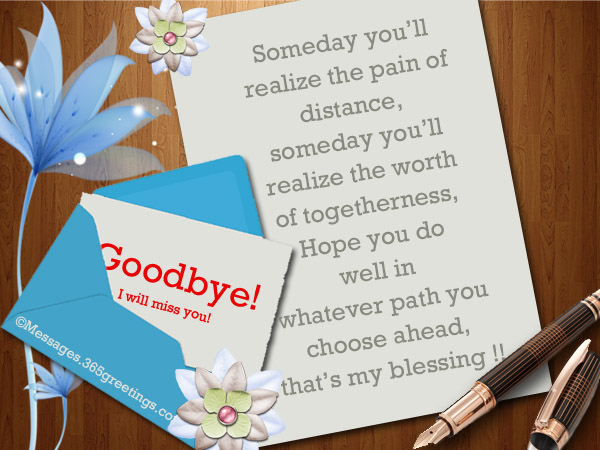 Best Goodbye Messages And Wishes 365greetingscom