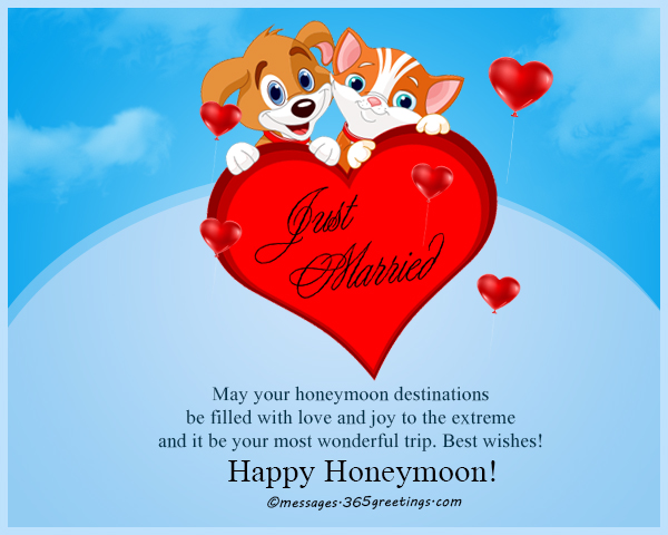 Honeymoon wishes and messages 365greetings fall in love yet again enjoy your honeymoon best wishes for you two m4hsunfo