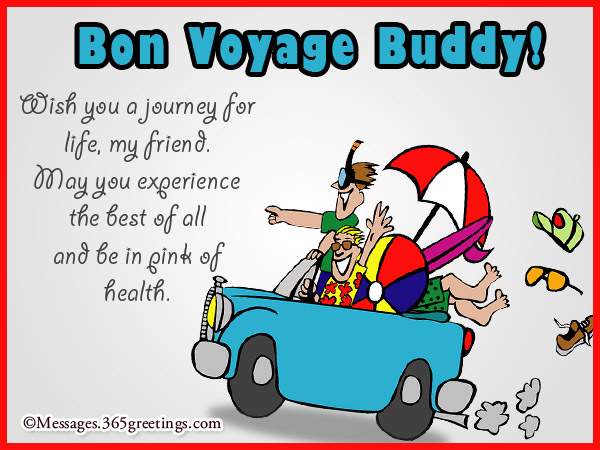 Bon voyage messages and greetings 365greetings bon voyage messages for friend wish you a journey m4hsunfo