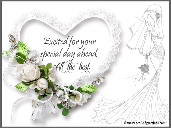 Greeting For Wedding Gift : Wishing you a luxurious wedding ahead and a blissful bridal shower.