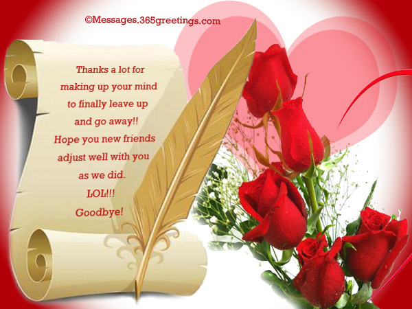 Best goodbye messages and wishes 365greetings funny goodbye messages m4hsunfo