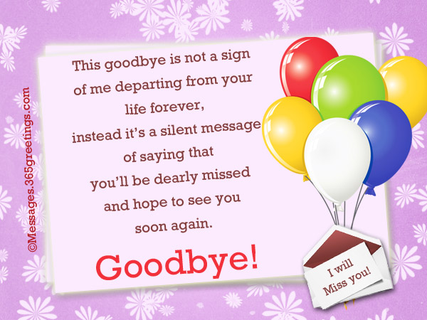 Message for leaving card