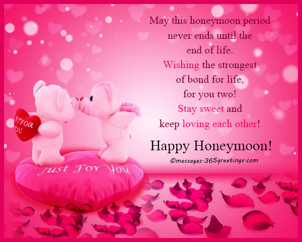 Honeymoon wishes and messages 365greetings indulge in romantic togetherness participate in playful activities and may you have a pleasant stay at your honeymoon destination m4hsunfo
