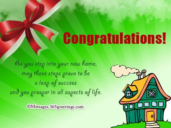 Congratulations New Home Messages | www.pixshark.com - Images Galleries With A Bite!
