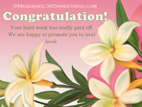 Congratulation Messages For Promotion 365greetings Com
