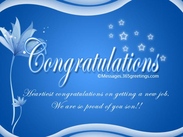 congratulation messages for new job 365greetings com