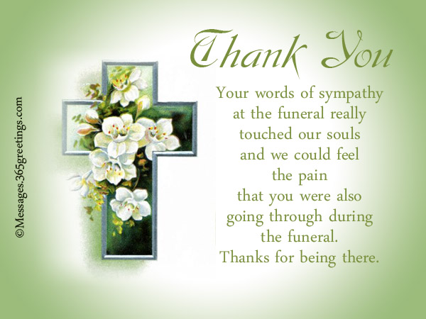 Emily post funeral thank you note etiquette