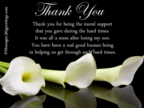 Funeral Thank You Notes 365greetings Com