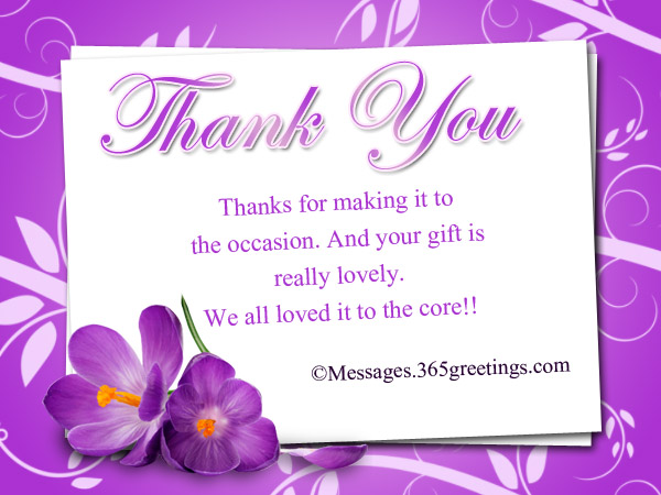 Thank You Notes For Gifts Messages Greetings and Wishes – Thank You Note Sample
