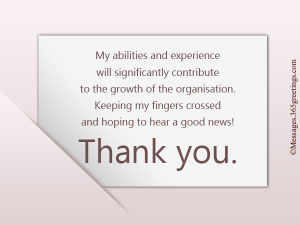 thank you card after interview sample
