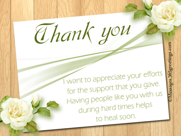 Funeral Thank You Notes - Messages, Greetings and Wishes