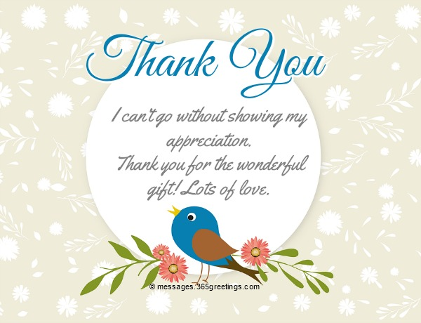 Thank You Messages For Gifts - 365greetings com