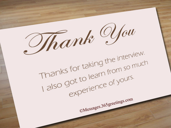 Thank You Notes After Interview  GreetingsCom