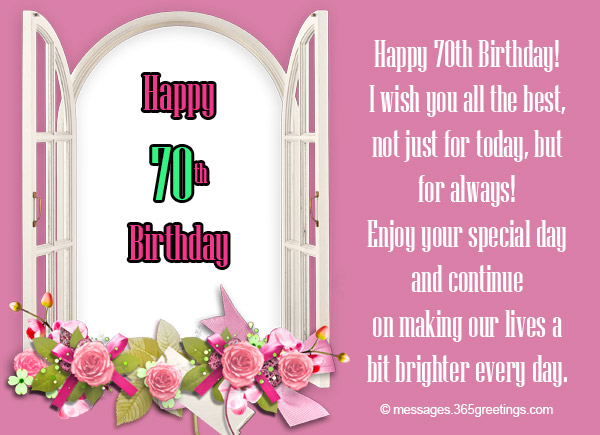 70th birthday wishes and messages 365greetings 70th birthday wishes bookmarktalkfo Images