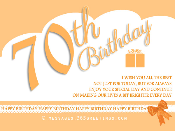 70th birthday wishes and messages 365greetings 70th birthday wishes m4hsunfo Choice Image