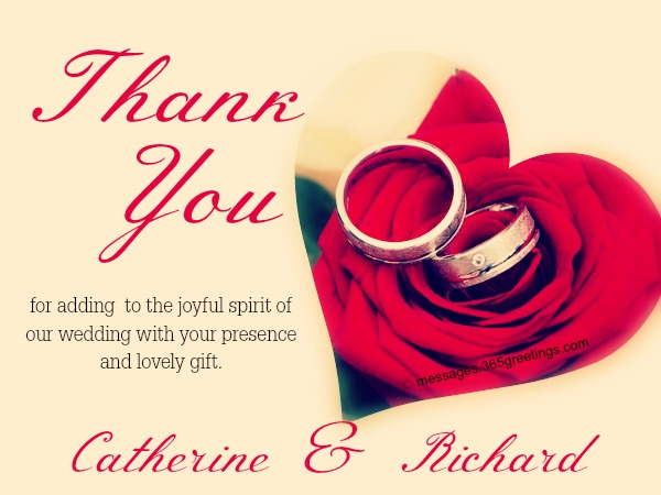 Wedding Thank You Wording