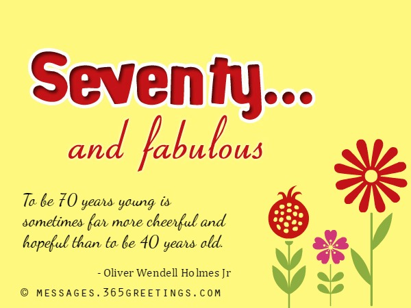 70th Birthday Wishes and Messages   365greetings.com