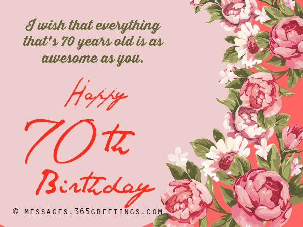 Happy 70th Birthday Messages