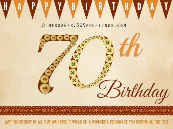 70th birthday wishes and messages 365greetings 70th birthday messages bookmarktalkfo Images