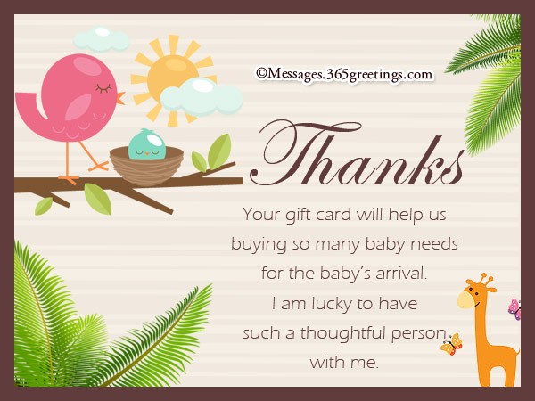Thank You Wording For Baby Shower