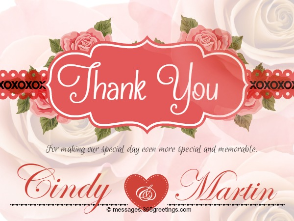 Wedding Thank You Wishes