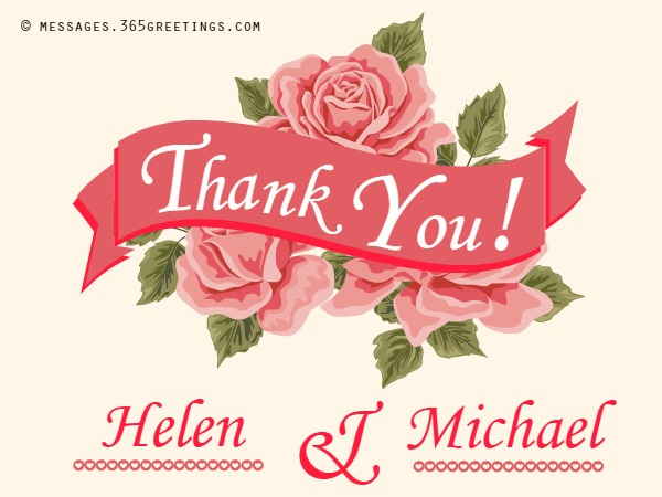 Wedding Thank You Messages  GreetingsCom