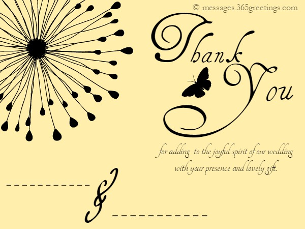 Wedding Thank You Messages 365greetingscom
