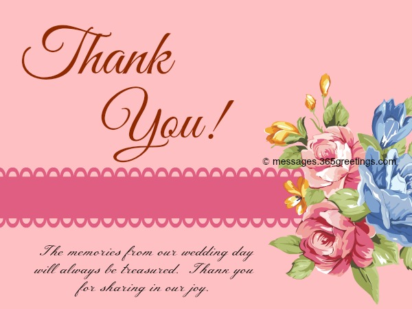 Free Printable Wedding Thank You Card Template 3