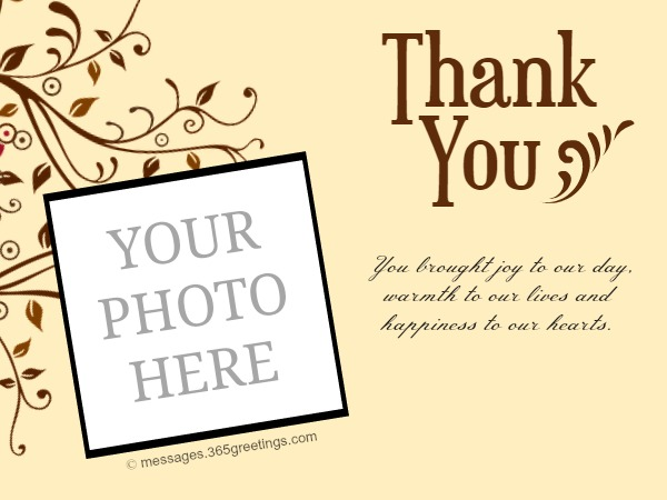 Free Printable Wedding Thank You Cards Messages Greetings and – What to Write in a Thank You Card for Wedding