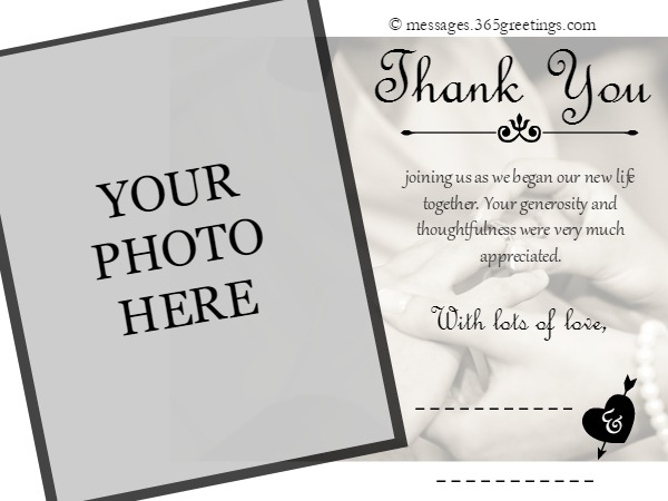 Free Printable Wedding Thank You Card Template 6