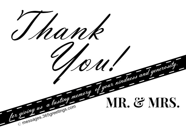 Printable Wedding Thank You Card Free