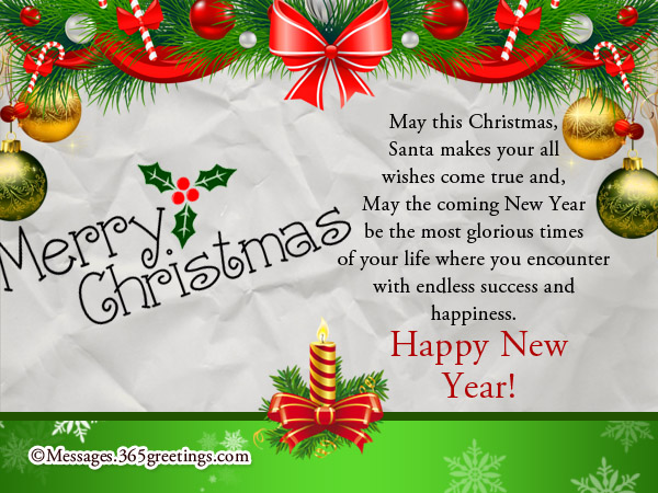 christmas new year wishes