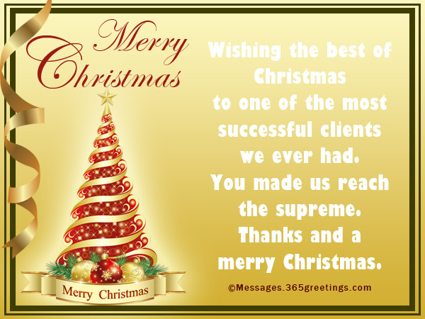 merry christmas messages for clients - Business Holiday Card Messages