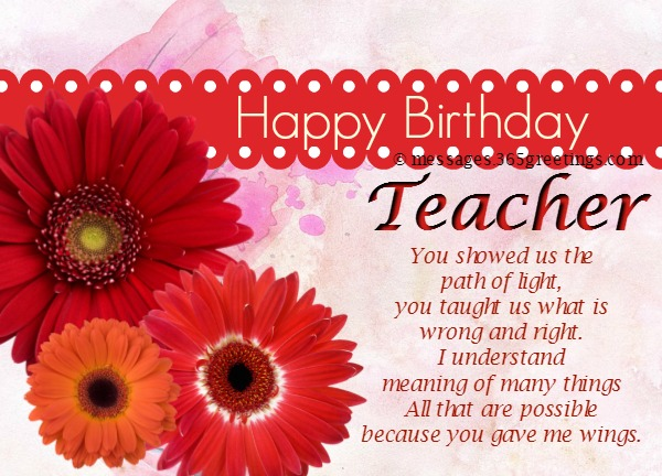 happy birthday letter to a teacher birthday wishes for 365greetings 16142