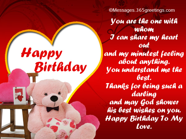 Birthday Greetings For Lover