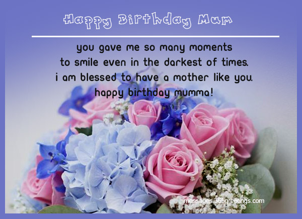 Happy Birthday Mommy ~ Birthday wishes for mother 365greetings.com
