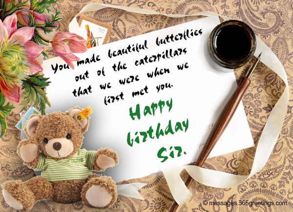Birthday wishes for teacher 365greetings you made beautiful butterflies out of the caterpillars that we were when we first met you happy birthday sir m4hsunfo